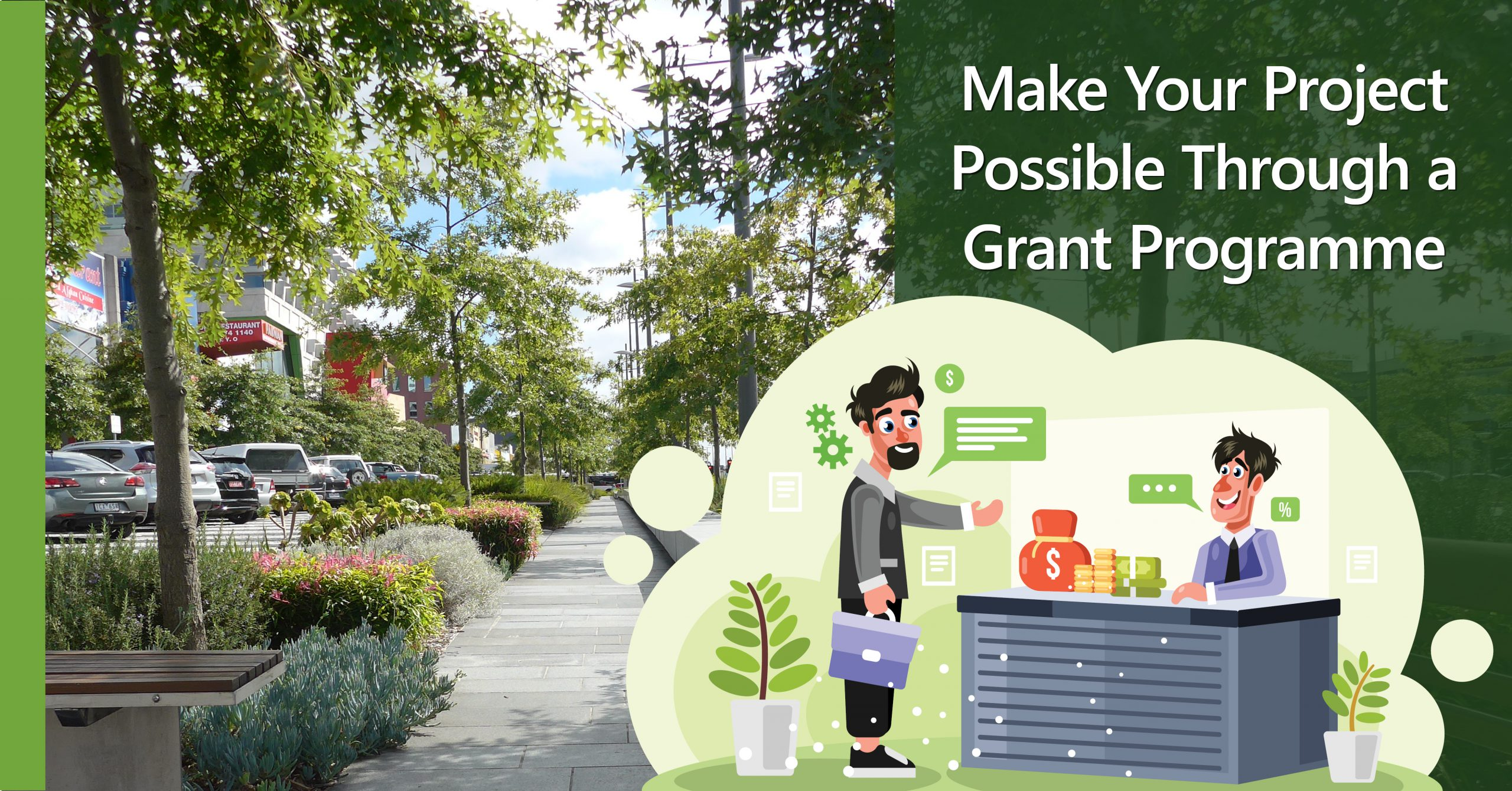 How to apply for a government grant to finance your green city project